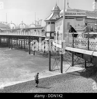 Palace Pier, Brighton, East Sussex, 1960s. Artist: Eric de Maré - Stock Photo