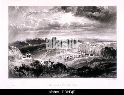 Hampstead Heath, Hampstead, London, 1832. Artist: David Lucas - Stock Photo