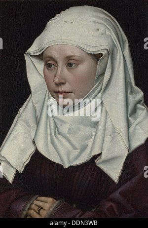 Portrait of a Woman, ca 1435. Artist: Campin, Robert (ca. 1375-1444) - Stock Photo