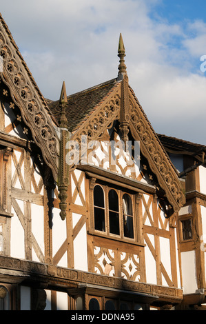 Detailed view of half timbered house Ludlow, England, UK - Stock Photo