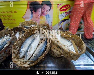 Seafood for sale in Ben Thanh market in Ho Chi Minh City, Vietnam - Stock Photo