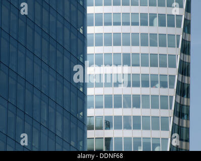 Contemporary architecture. La Défense (major business district in Europe). Paris. France - Stock Photo