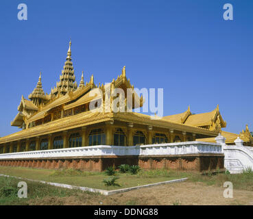 Kambawzathardi Golden Palace. Bago. Myanmar (Burma) - Stock Photo