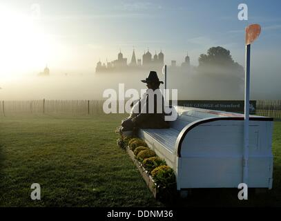 Stamford, England . 05th Sep, 2013. The figure of Daniel Lambert [ Britain's Fattest Man] at the second fence, Lambert's - Stock Photo