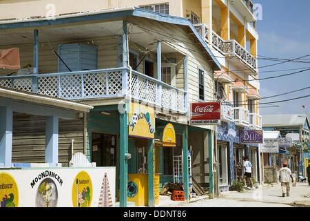 San Pedro Restaurant Ambergris Caye Belize Stock Photo 217856058