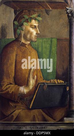 Juste de Gand - Portrait of Dante Alighieri - Louvre Museum - Paris - Stock Photo