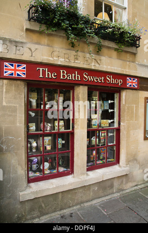 Bath a historic City in Somerset England UK   Sweet Shop - Stock Photo