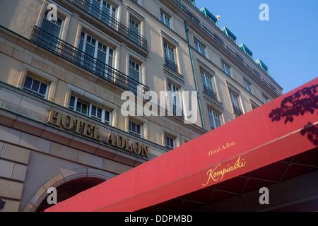 Hotel Adlon Kempinski Pariser Platz Mitte Berlin Germany - Stock Photo