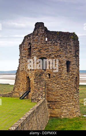 Flint Castle North East Tower, North Wales - Stock Photo