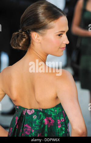 Toronto, Ontario, Canada. 5th Sep, 2013. Actress ALICIA VIKANDER arrives at 'The Fifth Estate' premiere during the - Stock Photo