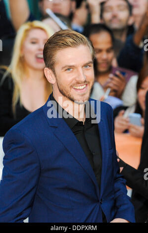 Toronto, Ontario, Canada. 5th Sep, 2013. Actor DAN STEVENS arrives at 'The Fifth Estate' premiere during the 2013 - Stock Photo