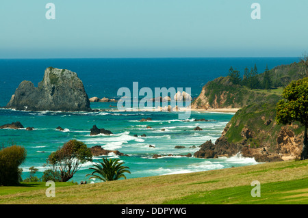 View from Narooma Golf Course, Narooma, NSW, Australia - Stock Photo