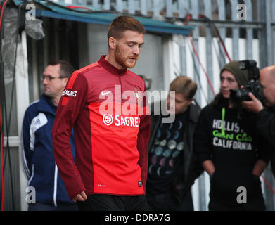 Belfast, Northern Ireland, UK. 05th Sep, 2013. Portugal train at Windsor Park in Belfast ahead of their World Cup - Stock Photo