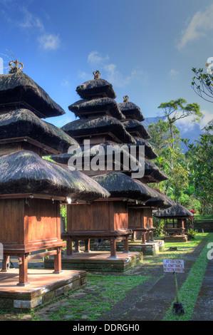 Indonesia, Bali, the directional temple of Pura Luhur Batukaru on the slopes of the Batukaru Volcano - Stock Photo