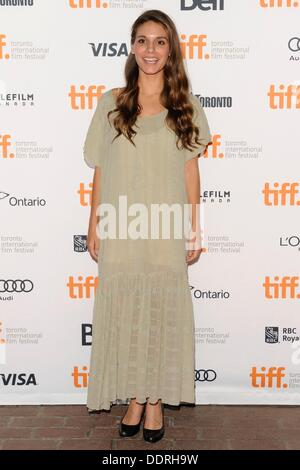 Toronto, ON. 5th Sep, 2013. Caitlin Stasey at arrivals for ALL CHEERLEADERS DIE Premiere at The Toronto Film Festival, - Stock Photo
