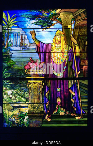 Smith Museum of Stained Glass Windows, Navy pier, Chicago, Illinois. USA. - Stock Photo