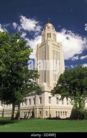 Nebraska State Capitol Building Lincoln US - Stock Photo