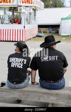 Sheriff at Florida State Fairgrounds Tampa - Stock Photo