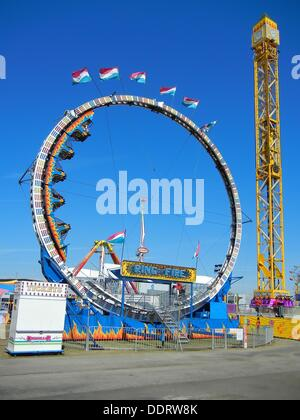 Florida State Fair Tampa Florida Ring of Fire ride - Stock Photo
