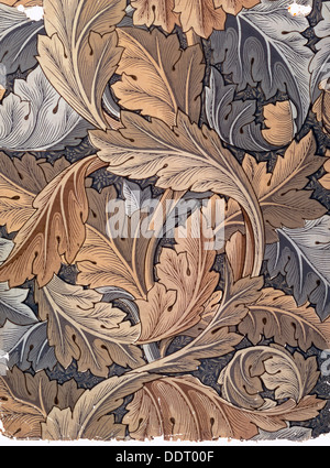 'Acanthus', wallpaper designed by William Morris, 1875. Artist: William Morris - Stock Photo