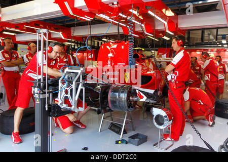 Monza, Italy. 06th Sep, 2013. Motorsports: FIA Formula One World Championship 2013, Grand Prix of Italy, garage - Stock Photo