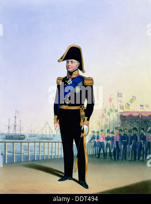 William IV, King of the United Kingdom, c1830-1837. Artist: L Mansion - Stock Photo