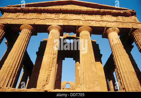 Temple of Concordia (V b.C). Valley of the Temples. Agrigento. Sicily. Italy - Stock Photo