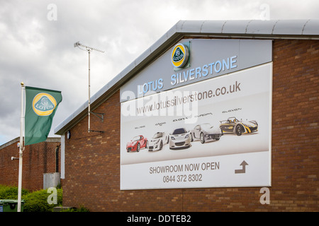 The Lotus car dealership in Silverstone Industrial Estate - Stock Photo