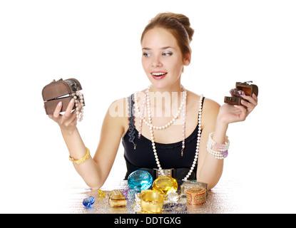 Greedy for jewelry - Stock Photo