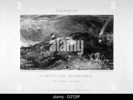 'Hampstead, Middlesex', 1831.                 Artist: David Lucas - Stock Photo