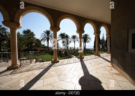 The Church of the Beatitudes, Sea of Galilee, Israel. Artist: Samuel Magal - Stock Photo