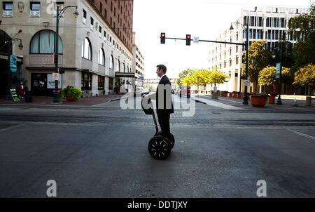 Sept. 5, 2013 - Memphis, Tenn, U.S. - September 5, 2013 - Downtown Memphis Commission president Paul Morris leaves - Stock Photo
