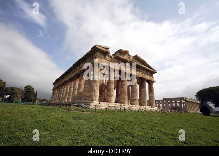 The Temple of Neptune, Peastum, Italy. Artist: Samuel Magal - Stock Photo