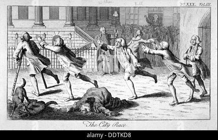 'The City Race', 1771. Artist: Anon - Stock Photo