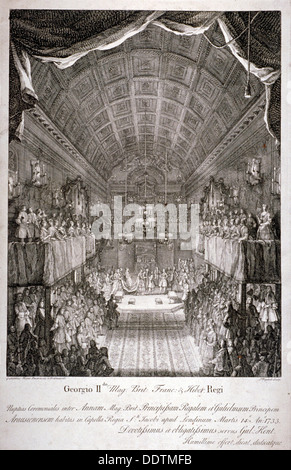 Wedding of Anne, Princess Royal, and William IV of Orange, St James's Palace, London, 1733.     Artist: Jacques - Stock Photo