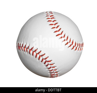 New baseball isolated with clipping path.