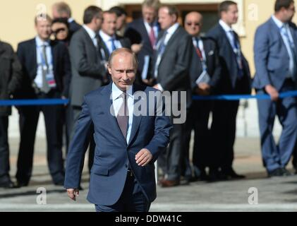 St. Petersburg, Russia. 6th Sep, 2013. President of the Russian Federation Vladimir Putin at the official group - Stock Photo