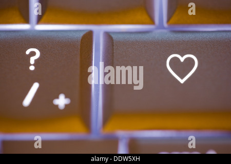 Computer Keyboard With Love Key Stock Photo 66931195 Alamy