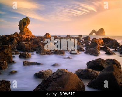 Mack Archat sunset. Oregon - Stock Photo