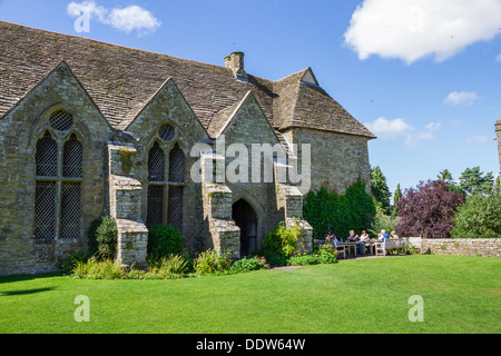 Stokesay Castle in Shropshire. The finest and best preserved fortified medieval manor house in England. - Stock Photo