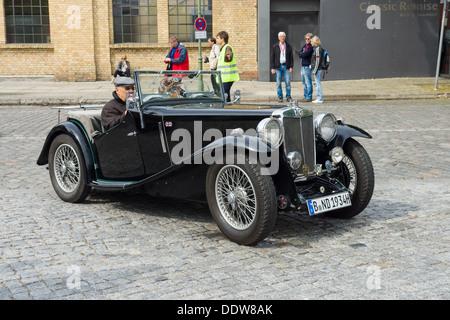 BERLIN - MAY 11: Sports car MG PA, 26th Oldtimer-Tage Berlin-Brandenburg, May 11, 2013 Berlin, Germany - Stock Photo