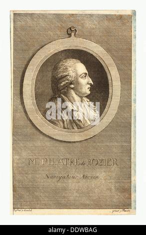 M. Pilatre de Rozier, aeronaut by p. Goulet , engraved by p. Thoenert - Stock Photo