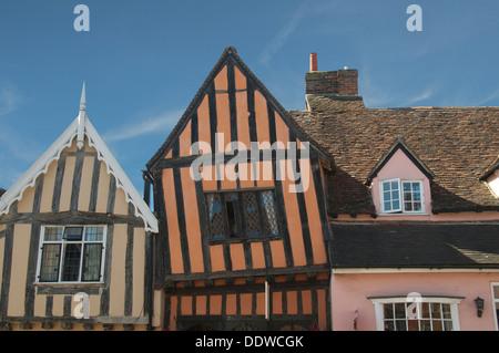 Crooked House High Street Lavenham Suffolk England - Stock Photo