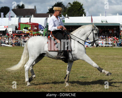 Dorset County Show, Britain, UK, The Devil's Horsemen Stunt Team, 07th September, 2013  Picture by Geoff Moore/Dorset - Stock Photo