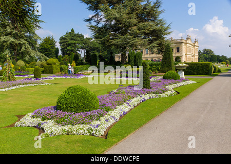 The Fountain Gardens At Brodsworth Hall Victorian Country House In  Doncaster, South Yorkshire.
