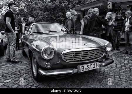 BERLIN - MAY 11: Sports car Volvo P1800E (black and white), 26th Oldtimer-Tage Berlin-Brandenburg, May 11, 2013 - Stock Photo