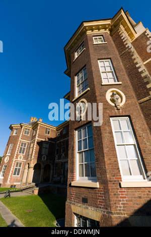Side view of the front facade of Ham House  Surrey  UK Stock Photo