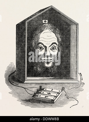 COMIC ELECTRIC TELEGRAPH, BY G.R. SMITH - Stock Photo