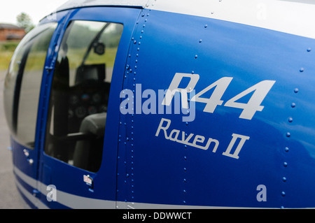 Logo on the side of a R33 Raven II helicopter - Stock Photo