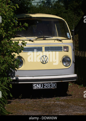 Old VW campervan, UK 2013 - Stock Photo